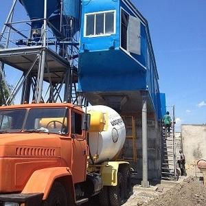 Бетонный завод ПРБУ-120 передвижной растворо-бетонный узел